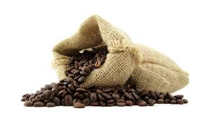 unloading coffee bags